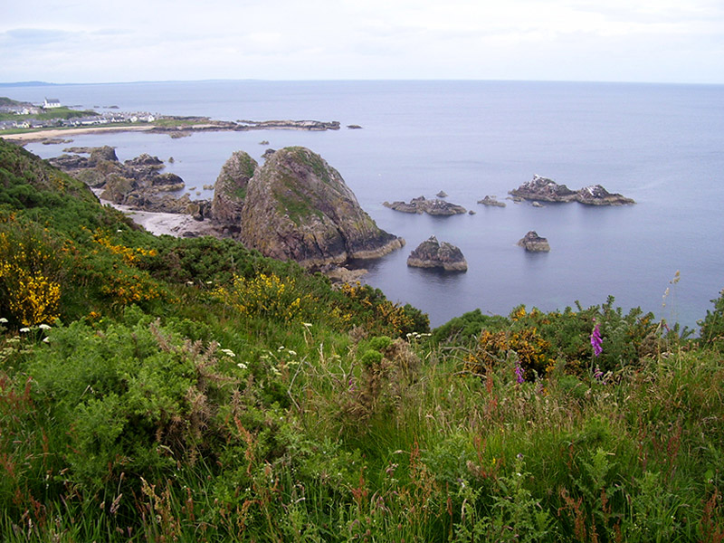 View of the coast from Portknockie