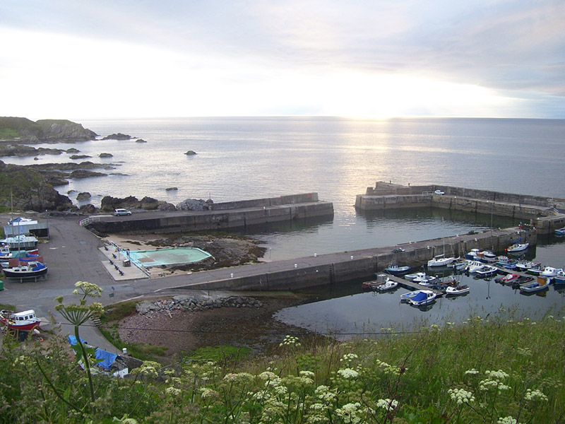 Overlooking Portknockie Harbour