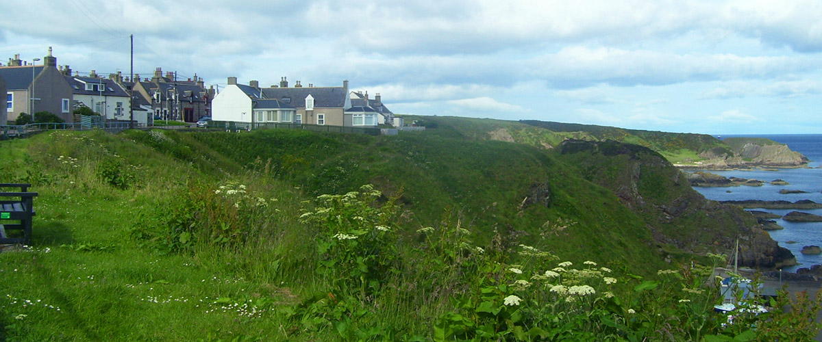 The village of Portknockie and Moray Coast Cottage for Rent